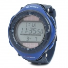 Sports Solar Power Diving Wrist Watch w/ EL Backlit / Week / Stopwatch / Alarm - Blue (1 x CR2025)