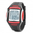 Sports Diving Wrist Watch w/ EL Backlit / Week / Stopwatch / Alarm Clock - Red (1 x CR2025)