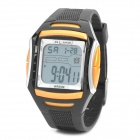 Sports Diving Wrist Watch w/ EL Backlit / Week / Stopwatch / Alarm Clock - Yellow (1 x CR2025)