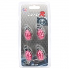 Cool Grenade Shaped Car Tire Valve Caps - Deep Pink (4-Piece Pack)