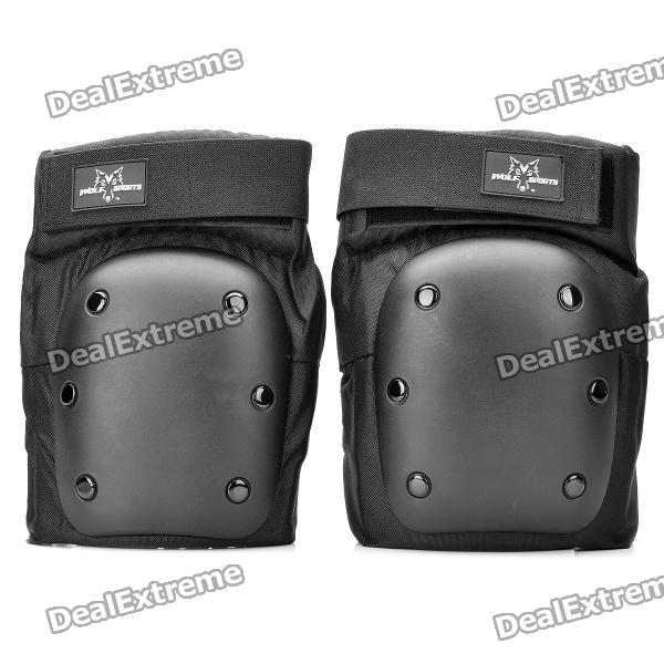 Outdoor Sports Skiing Knee Protector Guard Pads - Black (Size-L / Pair)