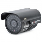 1/3 CCD Surveillance Security Camera with 30-LED IR Night Vision - Black (DC 12V)