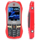 "L8 Car Style GSM Cell Phone w/ 2.2"" LCD, Dual SIM, Dual Band, FM and Java - Red"