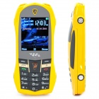 "L8 Car Style GSM Cell Phone w/ 2.2"" LCD, Dual SIM, Dual Band, FM and Java - Yellow"