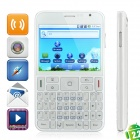 """A9000 Android 2.2 QWERTY GSM Smartphone w/3.5"""" Resistive, Quadband, Dual SIM, GPS and Wi-Fi - White"""