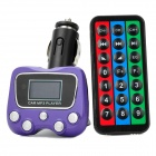 "1.1"" LCD MP3 Player FM Transmitter w/ TF Slot - Purple (DC 12~24V)"