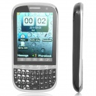 "M200 GSM TV Cell Phone w/ 3.0"" Resistive, Dual-SIM, Quad-band and FM - Black + Silver"