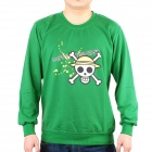 Men's One Piece Style Long Sleeve T-shirt - Green (165~175cm)