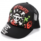 Fashion One Piece Skull Pattern Hat Cap - Black + White + Red