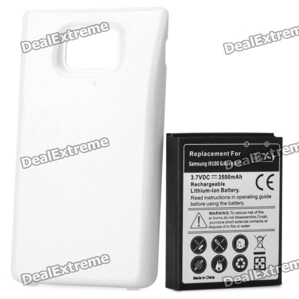 Thickened 3.7V 3500mAh Battery w/ Battery Cover for Samsung i9100 replacement 3 7v 3500mah 1800mah battery w battery cover set for samsung i9100 galaxy s2