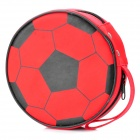 Football shaped cd / dvd protective carrying case - red (holds 24-piece)