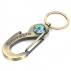 Portable Multifunction Carabiner Clip Keychain with Compass