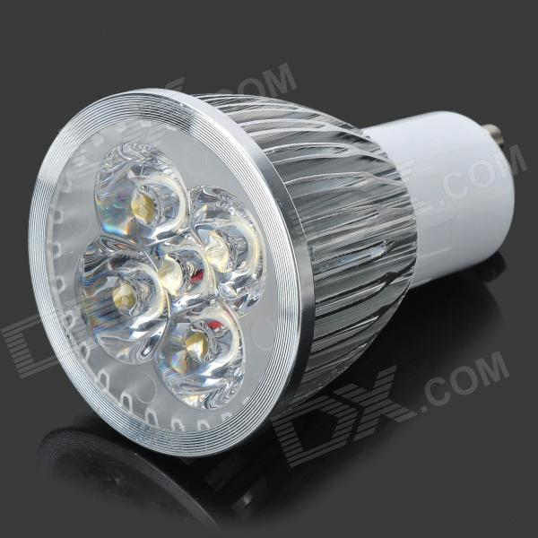 GU10 5W 3500K 450-Lumen 5-Cree XPE R2 LED Warm White Light Bulb (AC 85~265V) gu10 4w 350lm 6100k 4 cree xpe led white light spotlight silver ac 85 265v