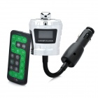 "Crown Stil 1.0 ""LCD-Auto MP3-Player FM Transmitter w / Fernbedienung / SD / TF - Silber (12 ~ 24V)"