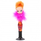 Barbie Doll Spring Shaking Head Ballpoint Pen with Suction Cup Base - Random Color