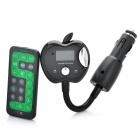 "Apple Style 1.0"" LCD Car MP3 Player FM Transmitter w/ Remote Controller / SD / TF - Black (12~24V)"