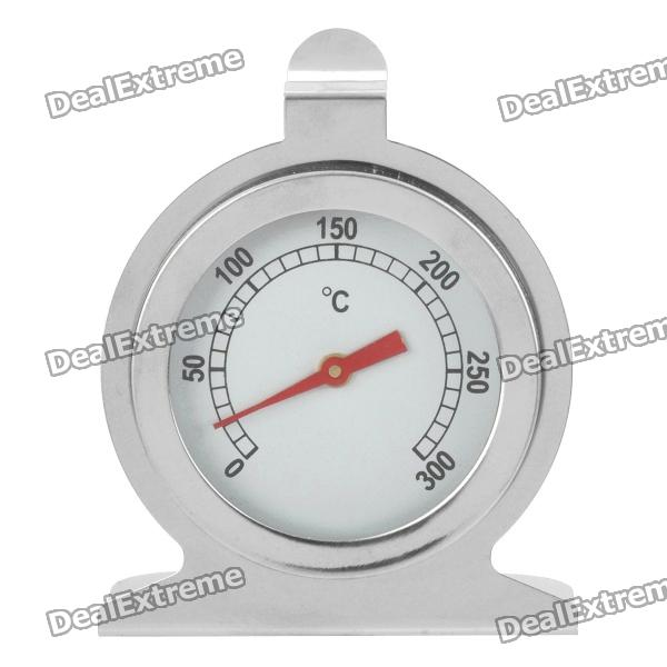 Stainless Steel Dial Oven Thermometer - Silver (0~300'C)