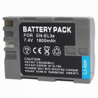 EN-EL3E 7.4V 1500mAh Digital Camera Battery for Nikon D100 + More - Grey