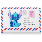 Cute Stitch Pattern Envelope Style Folding Wallet - White + Blue + Red