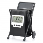 "1.8"" LCD Alarm Clock + Calendar + Thermometer with Leather Folding Pen Holder (2 x AG13)"