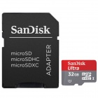 SANDISK High Speed Micro SD / TF Card w/ SD Adapter - 32GB (Class-6)