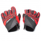 Sport Cycling Full Finger Gloves - Black + Red (XL-Size / Pair)