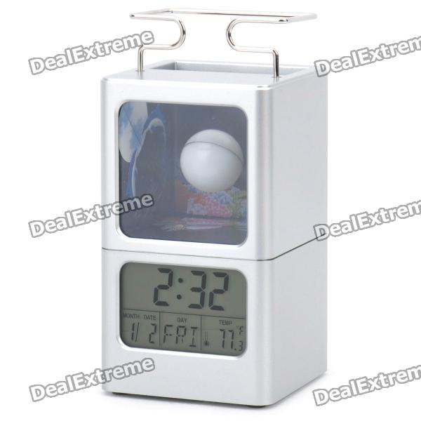 2.2 LCD Multifunction Alarm Clock + Calendar + Thermometer with Pen Holder (3 x AAA / 2 x AG13) f80 3 0 display screen car automobile thermometer black 2 x ag13