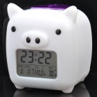 "Cute Propitious Pig Style 2.2"" LCD Multifunction Alarm Clock + Calendar + Thermometer (3 x AAA)"