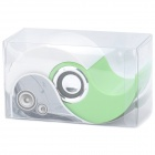 Mini Yin-Yang Style Rechargeable Music Speakers with SD Slot - White + Green