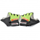 Designer's Sport Cycling Half-Finger Gloves - Black + Green (XL-Size / Pair)