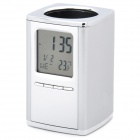 "2.2"" LCD Multifunction Alarm Clock + Calendar + Thermometer with Pen Holder (1 x CR2025)"