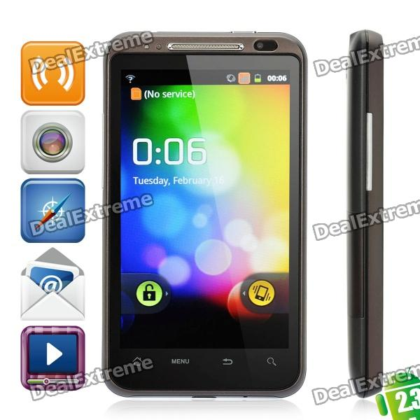 "QT-A05 Android OS V2.3 WCDMA-smartphone w / 4,3"" LED capacitieve, GPS en Wi-Fi - zwart"