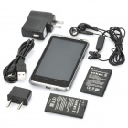 "QT-A05 Android OS V2.3 WCDMA-smartphone w / 4,3"" LED capacitieve, GPS en Wi-Fi - wit"