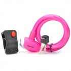 Anti-Theft Bike Bicycle Security Lock with Clamp & Keys - Pink (120cm-Length)