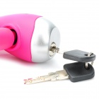 Anti-Theft велосипед Security Lock с зажимом & Keys - Pink (120см-длина)