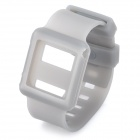 Wrist Watch Style Protective Silicone Case with Band for Ipod Nano 6 - Grey