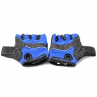 Sport Cycling Half-Finger Gloves - Black + Blue (XL-Size / Pair)
