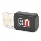 Mini USB 2.4GHz 150Mbps 802.11b/g/n WiFi Wireless Network Card Adapter - Black