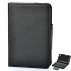 Protective PU Leather Case with Bluetooth V3.0 Keyboard for Samsung Galaxy Tab P6200 / P6210 - Black