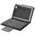 Protective PU Leather Case with Bluetooth V3.0 Keyboard for Samsung Galaxy Tab P6800 / P6810 - Black