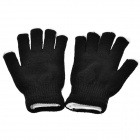 Guantes de punto que destellan multicolores de la manera LED 6-Mode frescos - negro (2 x CR2032 / pair)