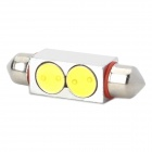 39mm 4W 6000-6500K 120LM White 2-SMD LED Car Width / Dashboard / Reading Light Lamp (DC 12V)