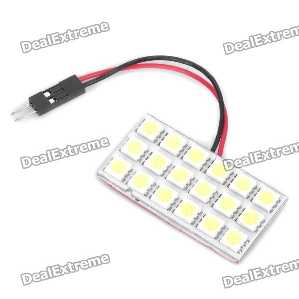 T10 / BA9S 4W 6000-6500K Blanco 18-SMD 5050 LED Car Dome / Light Reading (DC 12V)