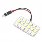 T10 / BA9S 4W 6000-6500K White 18-SMD 5050 LED Car Dome / Reading Light (DC 12V)