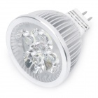 GX5.3 4W 7000K 380-Lumen 4-LED White Light Bulb (DC 12V)