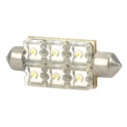 41mm 6x0.8W 6000-6500K 56LM White 6-SMD LED Car Width / Dashboard / Reading Light Lamp (DC 12V)