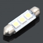 39mm 0.9W 6500K 45-Lumen 3x5050 SMD LED White Light Car Dashboard Reading Lamp (DC 12V)