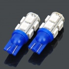 T10 2.5W 457.5nm 9x5050 SMD LED Blue Light Car Dashboard Reading Lamps (Pair / DC 12V)