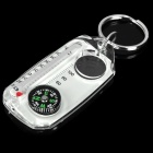 3-in-1 Multifunction Keychain w/ Compass / Magnifier / Thermometer