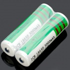 "Sky Ray ICR 18650 3.7V ""3000mAh"" Rechargeable Li-ion Batteries (Pair)"